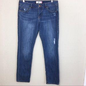 Cabi 5165 Slim Boyfriend Jeans Distressed Size 8